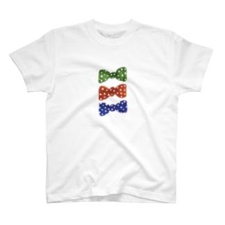 3つのりぼん T-shirts