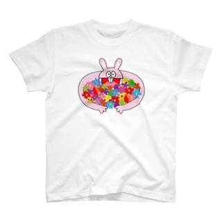 ピョンちゃん(花束) T-shirts