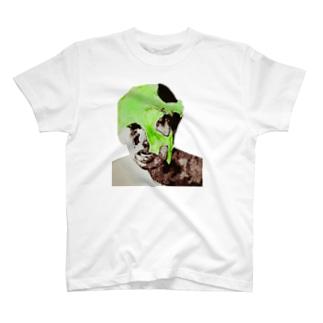 マスク剥ぎ(緑) T-shirts
