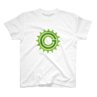 Green Cog Cog Logo T-shirts