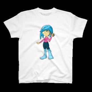 Webアナリストすみれ公式ショップSUZURI支店のみずきちゃんのグッズ T-shirts