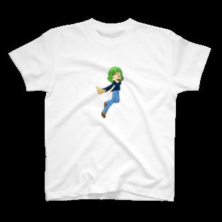 Webアナリストすみれ公式ショップSUZURI支店のみどりちゃんのグッズ T-shirts