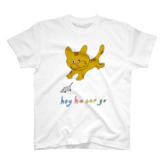 あそぶチャトラキャット T-shirts