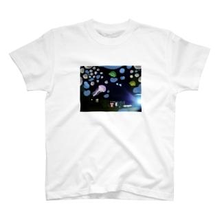深海夜のコーヒー店 T-shirts