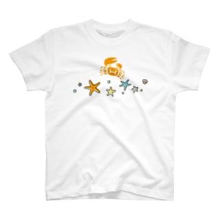 hitohana*+α ヒトデとカニ T-shirts