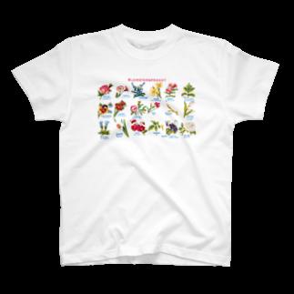 博物雑貨 金烏の花言葉 - Blomstersproget T-shirts