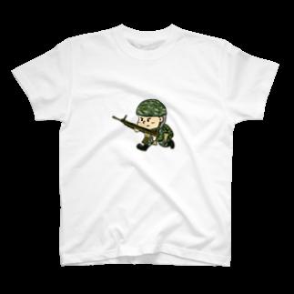 いもむしお✏︎の戦場くん T-shirts