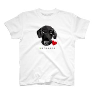 豚鼻な黒ラブ T-shirts