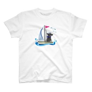 黒ラブ船長 T-shirts