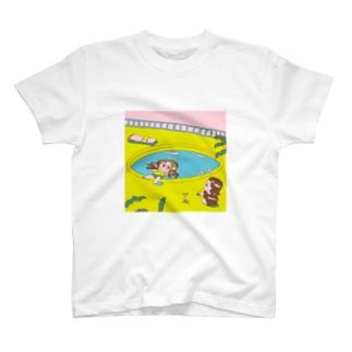 夏のプールのTシャツ T-shirts