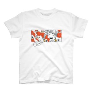 もりもりのとり T-shirts