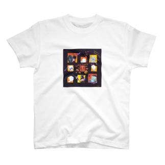 halloween cube house T-shirts
