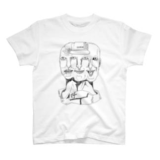 顔Tシャツ T-shirts