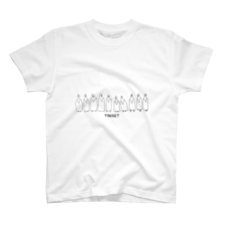 10人のTARGETが一列に T-shirts