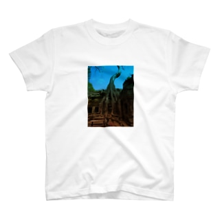 Blue sky in angkor wat T-shirts
