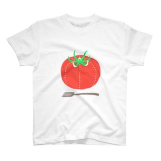 トマト(ミシン目) T-shirts