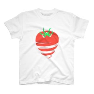 トマト(皮むき) T-shirts