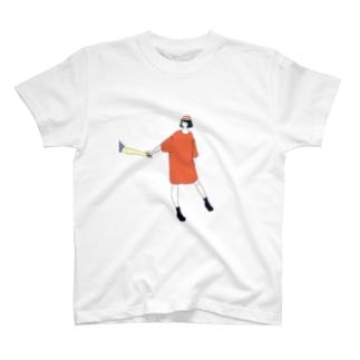手をひくTシャツワンピ Tシャツ