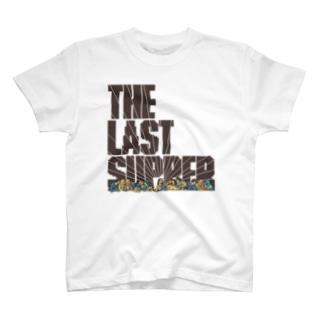 ドットで名画「最後の晩餐」 T-shirts