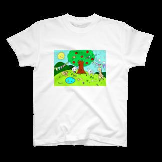 TONA1045の動物の楽園 T-shirts