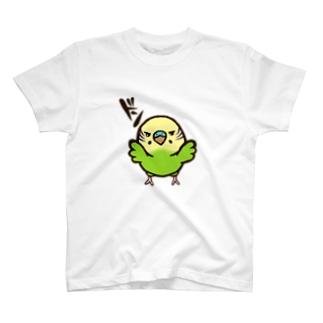 壁ドンインコ(ノーマルグリーン) T-shirts
