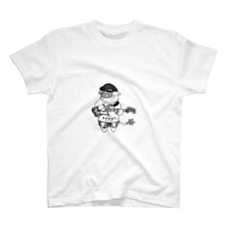 ジャズ猫 エレクトリックベース T-shirts