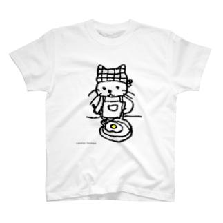 めだまやき焼くねこ T-shirts