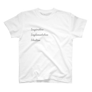 プロジェクトが行き来する3つの空間 T-shirts