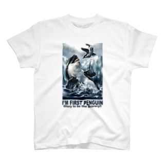 THOUGHT -BUY-のI'm  First Penguin T-shirts