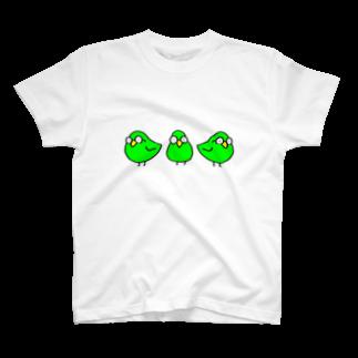スペースさねぴのめがわるいとり T-shirts