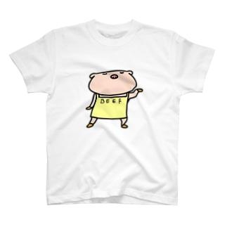 【のびネコねこハウス】ぶたこさん T-shirts