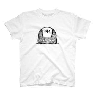 聞こえなーいポーズのラッコ T-shirts
