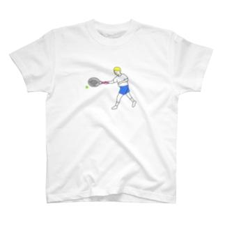 テニス フォアハンド 初心者 T-shirts