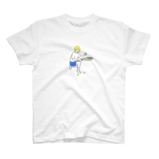 テニス 球拾い T-shirts
