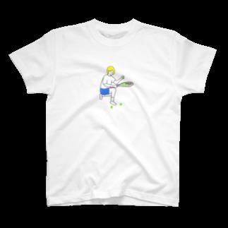 shakemakiのテニス 球拾い T-shirts
