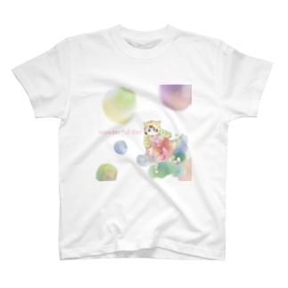 かぶりトラ猫 T-shirts