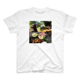 にゃん吉&たんぽぽの愉快なBBQ T-shirts