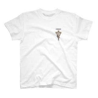 """ぎのうし群""""GINOUSHI(胸飾り)""""029 T-shirts"""