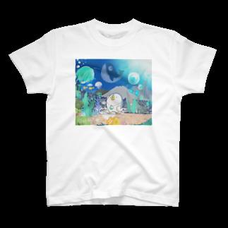 ダーシオショップのあのとり。と謎の海 T-shirts