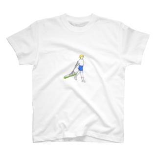 テニス  ブラシがけ T-shirts