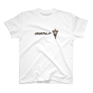 """ぎのうし群""""GINOUSHI(胸飾り)""""030 T-shirts"""
