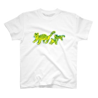 とらの親子 T-shirts