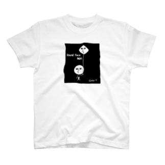 まん丸男 Round face man T-shirts
