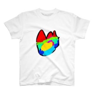 カラフルなほのお(次男) T-shirts