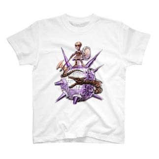 ヤノベケンジ《ザ・スター・アンガー》 (戦う少女)Tシャツ Tシャツ