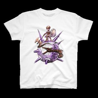 ヤノベケンジアーカイブ&コミュニティのヤノベケンジ《ザ・スター・アンガー》 (戦う少女)Tシャツ T-shirts