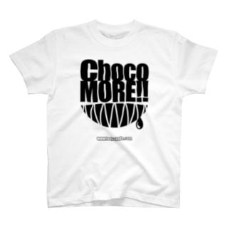 ChocoMORE!! (復刻版・ホワイトボディ向け) T-shirts