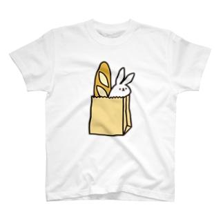 バゲットを添えて T-shirts