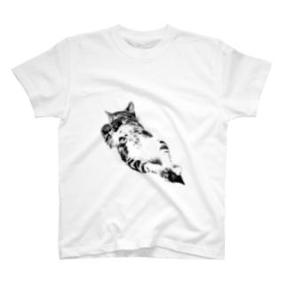 モノクロ仔猫 T-shirts