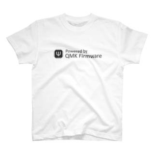 Powered by QMK Firmware (white) T-shirts